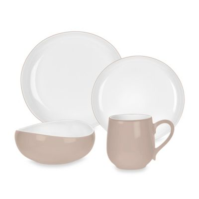 Portmeirion® Ambiance 4-Piece Place Setting in Stone