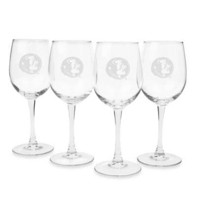 Florida State University Engraved White Wine Glass (Set of 4)