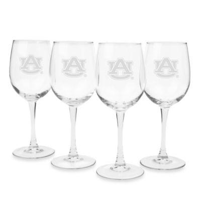 Auburn University Engraved White Wine Glass (Set of 4)