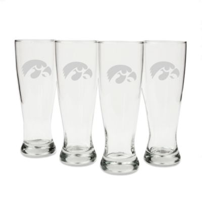 University of Iowa Engraved Pilsner Glass (Set of 4)