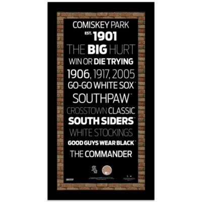 Steiner MLB Chicago White Sox Framed Wall Art 9.5-Inch x 19-Inch Subway Sign