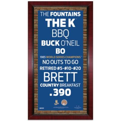Steiner MLB Kansas City Royals Framed Wall Art 16-Inch x 32-Inch Subway Sign