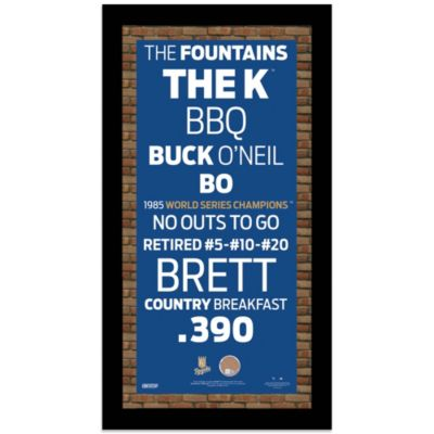 Steiner MLB Kansas City Royals Framed Wall Art 9.5-Inch x 19-Inch Subway Sign