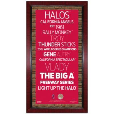 Steiner MLB Los Angeles Angels Framed 16-Inch x 32-Inch Wall Art Subway Sign