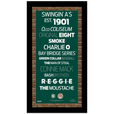 Steiner MLB Oakland Athletics Framed 9 1/2-Inch x 16-Inch Wall Art Subway Sign
