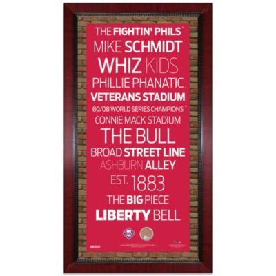Steiner MLB Philadelphia Phillies Framed Wall Art 16-Inch x 32-Inch Subway Sign