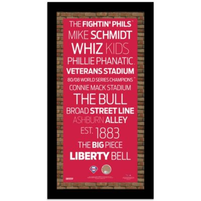 Steiner MLB Philadelphia Phillies Framed Wall Art 9.5-Inch x 19-Inch Subway Sign