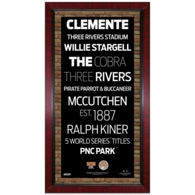 Steiner MLB Pittsburgh Pirates Framed Wall Art 16-Inch x 32-Inch Subway Sign