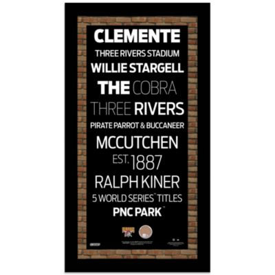 Steiner MLB Pittsburgh Pirates Framed Wall Art 9.5-Inch x 19-Inch Subway Sign