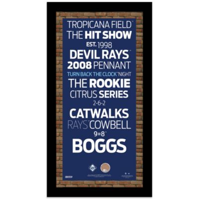 Steiner MLB Tampa Bay Rays Framed Wall Art 9.5-Inch x 19-Inch Subway Sign