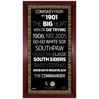 Steiner MLB Chicago White Sox Framed Wall Art 16-Inch x 32-Inch Subway Sign
