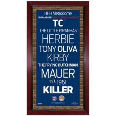 Steiner MLB Minnesota Twins Framed Wall Art 16-Inch x 32-Inch Subway Sign