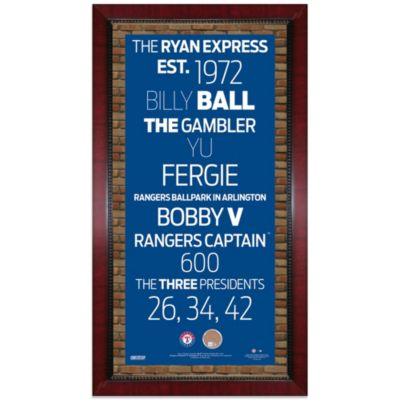 Steiner MLB Texas Rangers Framed Wall Art 16-Inch x 32-Inch Subway Sign