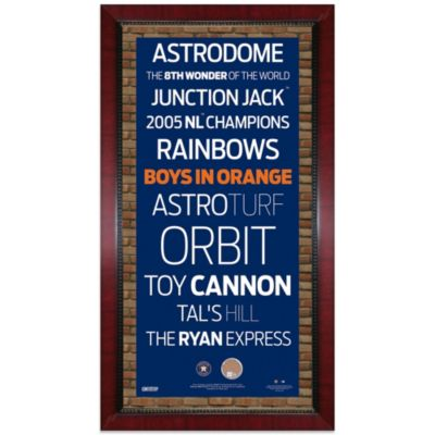 Steiner MLB Houston Astros Framed 16-Inch x 32-Inch Wall Art Subway Sign