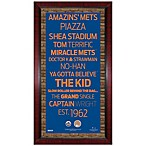 Steiner MLB New York Mets Framed Wall Art 16-Inch x 32-Inch Subway Sign