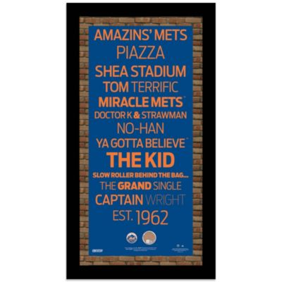 Steiner MLB New York Mets Framed Wall Art 9.5-Inch x 19-Inch Subway Sign