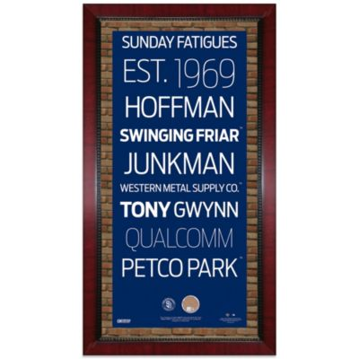 Steiner MLB San Diego Padres Framed Wall Art 16-Inch x 32-Inch Subway Sign