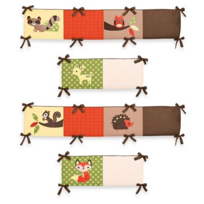 Sweet Jojo Designs Forest Friends 4-Piece Crib Bumper
