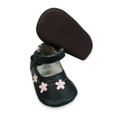 Tommy Tickle Size 0-6M Cruzer Mary Jane in Black/Pink