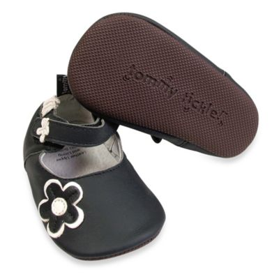 Tommy Tickle Cruzer Size 18-24M Mary Jane Soft Leather Early Walker Shoe in Black/White