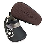 Tommy Tickle Cruzer Mary Jane Soft Leather Early Walker Shoe in Black/White