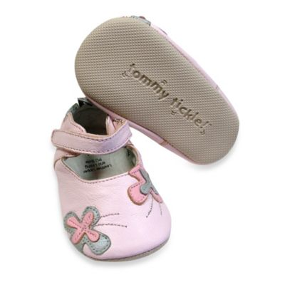 Tommy Tickle Cruzer Size 18-24M Mary Jane Soft Leather Early Walker Shoe in Ice Pink