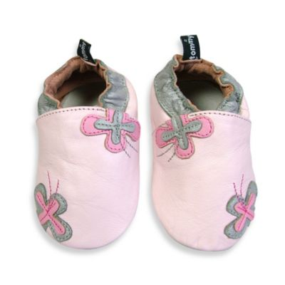 Tommy Tickle Soft Sole Size 12-18M Leather Flower Baby Shoe in Pink