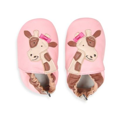 Tommy Tickle Soft Sole Size 18-24M Leather Giraffe Baby Shoe in Pink