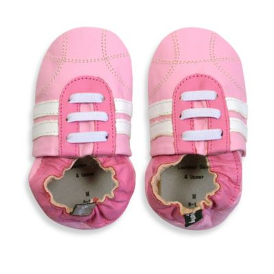 Tommy Tickle Soft Sole Size 18-24M Leather Sport Baby Shoe in Rose/White
