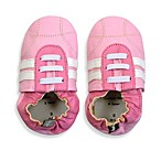 Tommy Tickle Soft Sole Leather Sport Baby Shoe in Rose/White