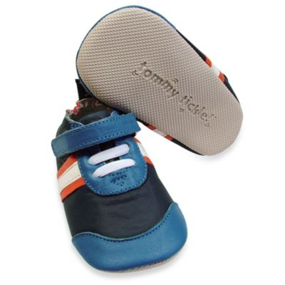 Tommy Tickle Cruzer Size 18-24M Sport Soft Leather Early Walker Shoe in Navy/Cobalt