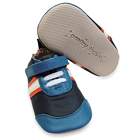 Boys' Shoes > Tommy Tickle Cruzer Size 18-24M Sport Soft Leather Early Walker Shoe in Navy/Cobalt