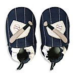 Tommy Tickle Soft Sole Leather Baseball Baby Shoe in Blue