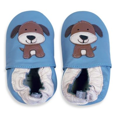 Tommy Tickle Soft Sole Size 6-12M Leather Dog Baby Shoe in Blue