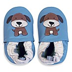 Tommy Tickle Soft Sole Leather Dog Baby Shoe in Blue