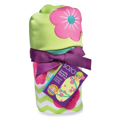 Sozo® Chevron Floral Swaddle Blanket and Cap Set