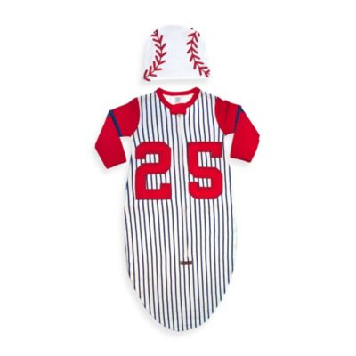 Sozo® Size 0-6M Baseball Bunting and Cap Set