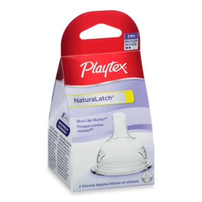 Playtex® 2-Pack Medium Flow NaturaLatch® Nipples