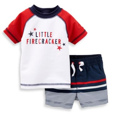 Carter's® Swimset with Rashguard in Red/White/Blue