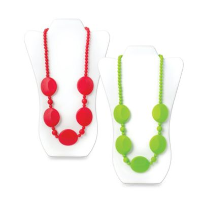 Bumkins® Pietra Silicone Teething Necklace in Red
