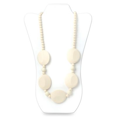 Bumkins® Pietra Silicone Teething Necklace in White