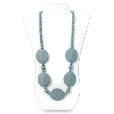 Bumkins® Pietra Silicone Teething Necklace in Grey