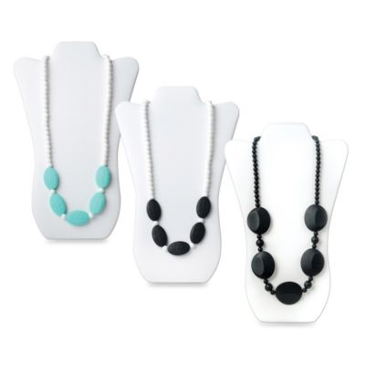 Bumkins® Sasso Silicone Teething Necklace in Black