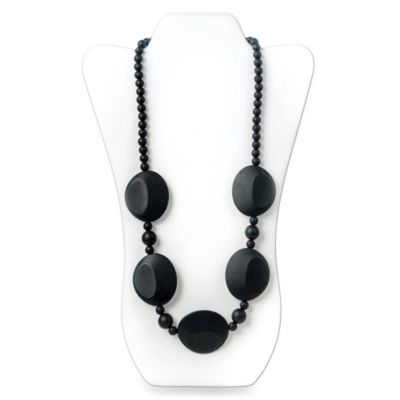 Bumkins® Pietra Silicone Teething Necklace in Black