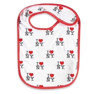 I Love NY Baby Bib in White/Red