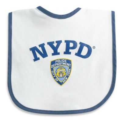 NYPD Baby Bib in White/Blue
