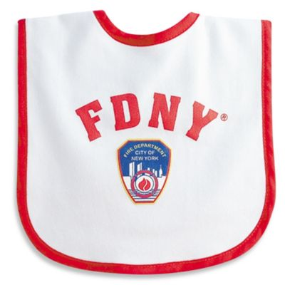 FDNY Baby Bib in White