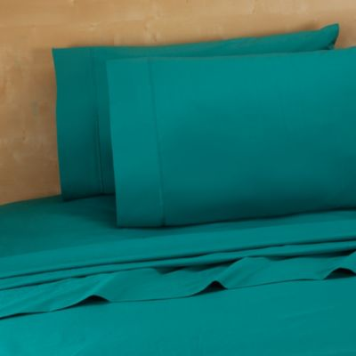 Teal Queen White Sheets