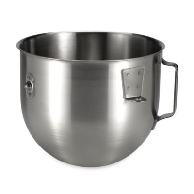 KitchenAid® 5-Quart Stainless Steel Bowl with Handle for Commercial Stand Mixers
