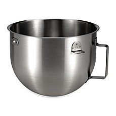 KitchenAid® 5-Quart Brushed Stainless Steel Bowl with Handle for Commercial 5 Series Stand Mixer